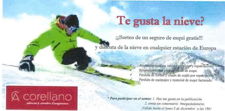 ¡¡¡Sorteo de un seguro de esquí gratis!!!