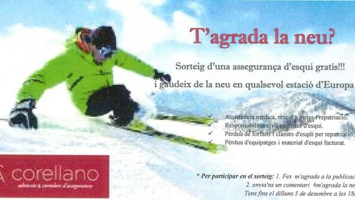 Sorteig d'una assegurança d'esquí gratis!!!